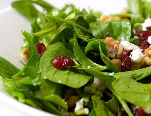 Salade van cranberry en walnoten