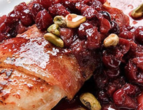 Kipfilet met cranberry mosterdsaus