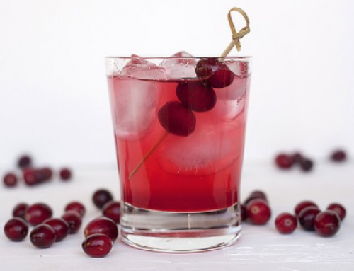 Cranberry likeur cocktail